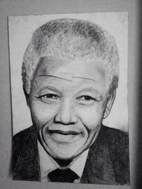 Best Pencil Sketch Of Nelson Mandela Simple Nelson Mandela Pencil Sketch/portrait/drawing | Next Drawings Picture