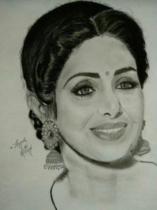 Best Pencil Sketch Of Techniques Fan Pencil Sketch Of Sridevi Ji | My Board In 2019 | Pencil Sketch Pic