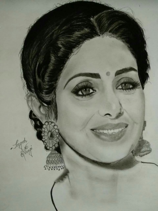 Best Pencil Sketch Of Techniques Fan Pencil Sketch Of Sridevi Ji | My Board In 2019 | Pencil Sketch Pic