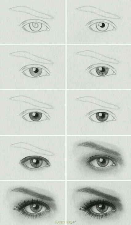 Best Pencil Sketch Step By Step Techniques for Beginners Eye Step By Step | Art Stuff | Pencil Drawings, Eye Drawing Picture