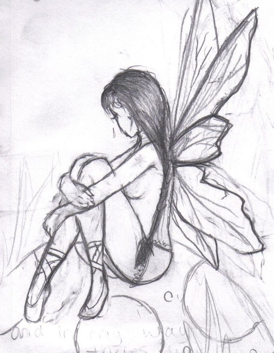 Best Pencil Sketches Of Fairies And Angels Simple Found On Bing From Www.pinterest | Drawing--Butterflied & Fairy Pics