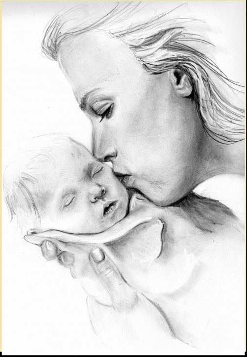 Best Pencil Sketches Of Mother And Daughter Tutorial Mother And Daughter Sketch At Paintingvalley | Explore Pics