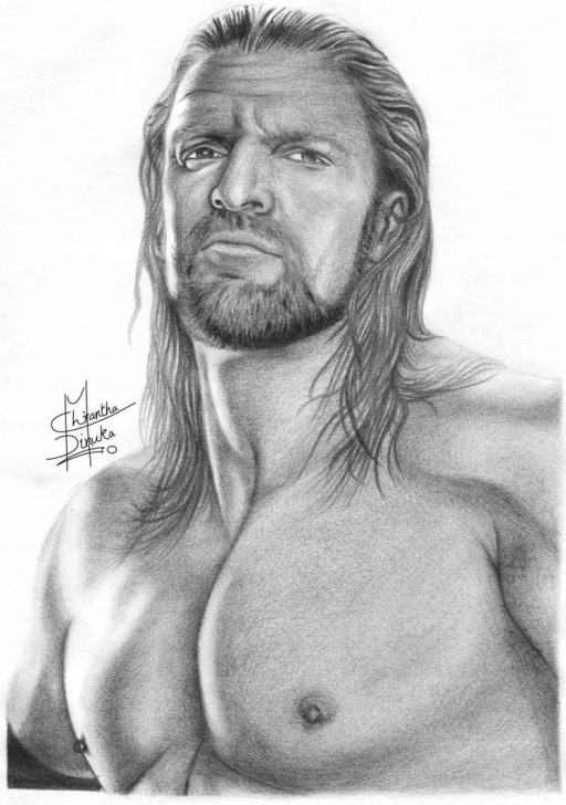 Best Pencil Sketches Of People Simple Pencil Sketches Of People | Triple H Pencil Drawings By Chirantha Photos