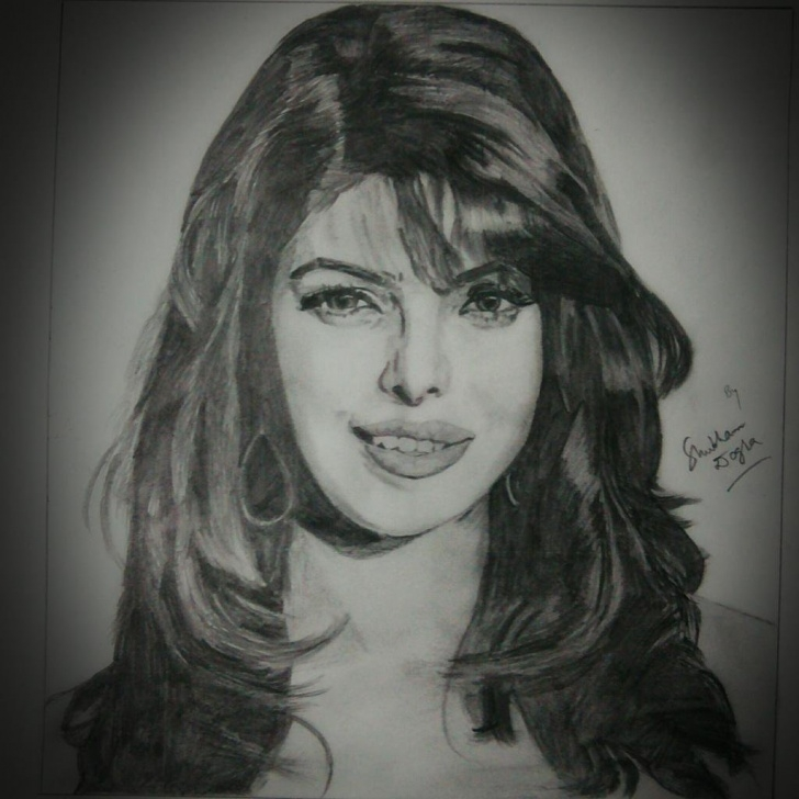 "Best Priyanka Chopra Pencil Sketch Ideas Shubham Dogra On Twitter: ""@priyankachopra Pencil Sketch Drawn By Me Pic"