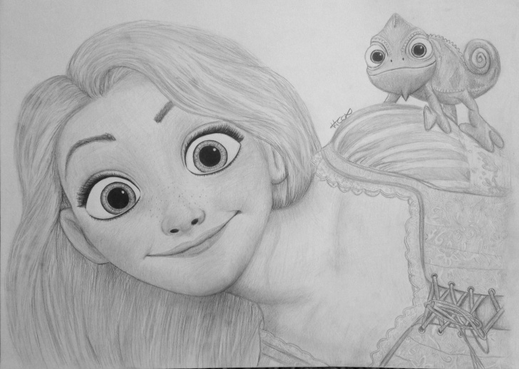 Best Rapunzel Pencil Drawing Tutorials Rapunzel Drawing From Tangled | S K E T C H E S In 2019 | Drawings Picture