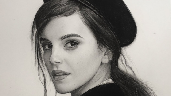 Best Realistic Graphite Portraits Free Portrait Drawing In Charcoal And Graphite, Realistic Pencil Drawing Image