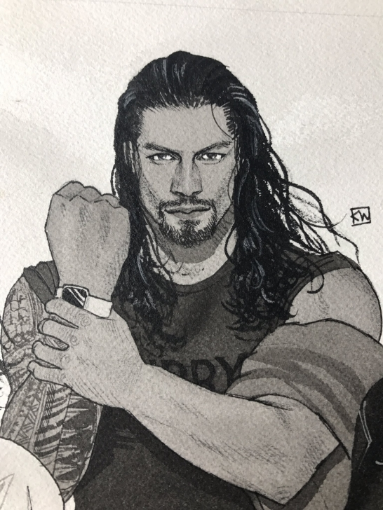 Best Roman Reigns Pencil Drawing Techniques Pin By Gisela Ledezma On Roman Reigns | Roman Reigns Drawing, Roman Pics