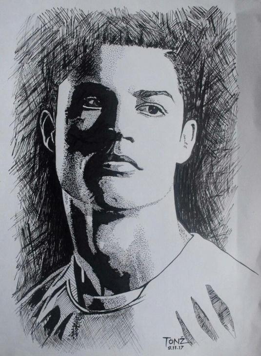 Best Ronaldo Pencil Drawing Tutorial Cristiano Ronaldo. Pencil Sketch. | Shreya | Pencil Drawings Pic