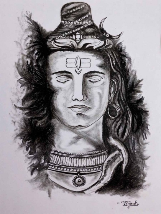 Best Shiva Pencil Art Lessons Pencil Art Gallery, Pencil Sketch In Chennai, Villupuram Picture