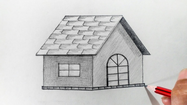 Best Simple Pencil Drawings Of Houses Tutorial How To Draw A Hut Step By Step (Very Easy) Photo