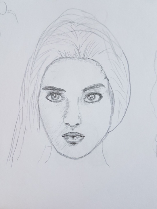 Best Simple Portrait Drawing Tutorial Simple Pencil Portrait Drawing — Steemit Pics