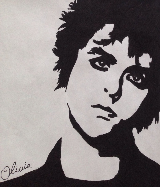 Best Stencil Art Drawing Simple Billie Joe Drawing // Stencil By Olivia Rose | Rich And Famous In Picture