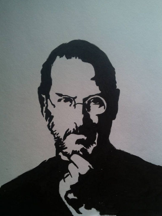 Best Stencil Art Drawing Step by Step Steve Jobs -Stencil Art Photos