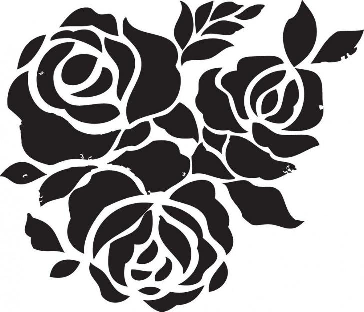 Stencil Art Flowers