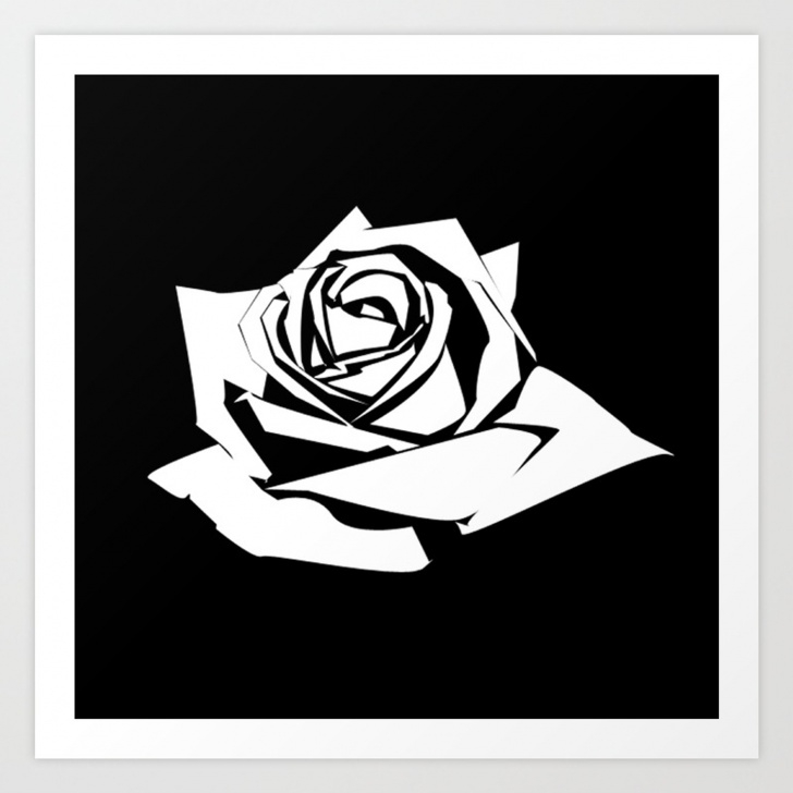 Best Stencil Art Rose for Beginners Rose Stencil Art Print Images