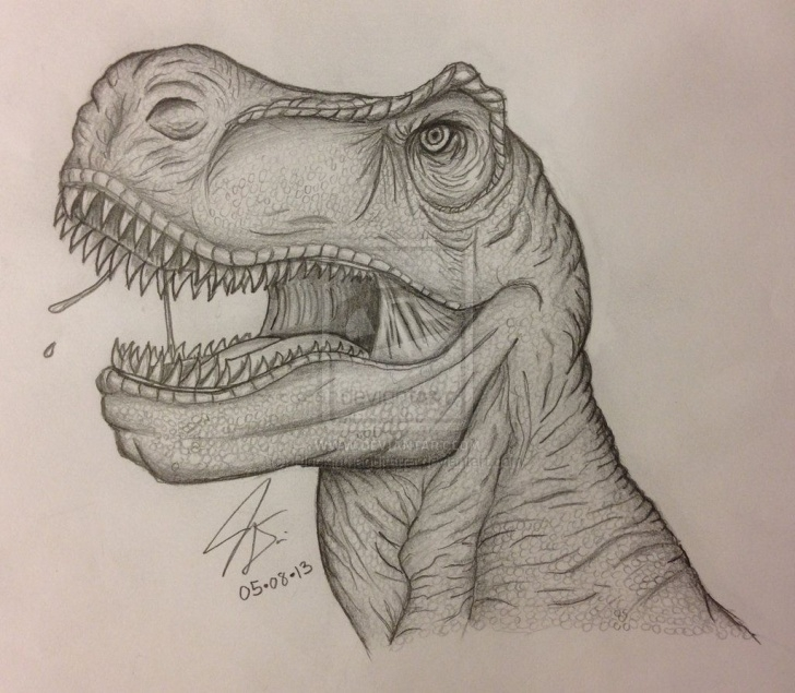 Best T Rex Pencil Drawing Courses Pencil Drawing - T-Rex I By Pluckinthaguitarra.deviantart On Images