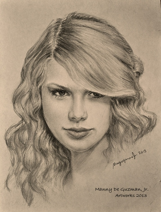 Best Taylor Swift Pencil Sketch Courses Taylor Swift - Pencil Drawing | Portrait Drawing By: Manny D… | Flickr Photos