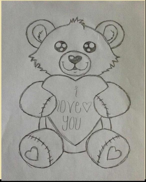 Best Teddy Bear Drawings Pencil Simple Teddy Bear Drawings Pencil At Paintingvalley | Explore Pictures