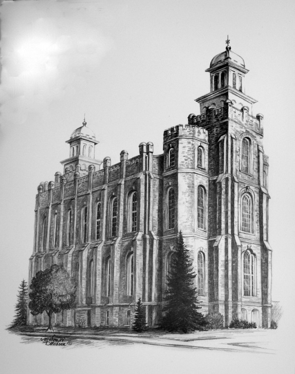 Best Temple Pencil Drawing Techniques for Beginners Pencil Sketch Of The Mormon Temples And Print - Architectural Picture