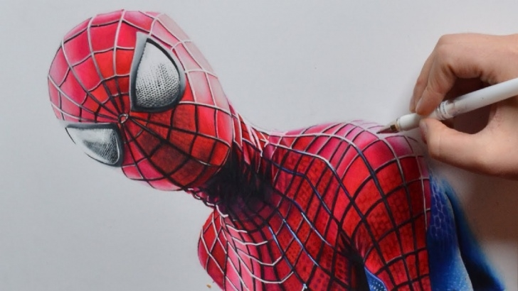 Best The Amazing Spider Man Drawing In Pencil Free Drawing The Amazing Spider-Man | Nimauke Images