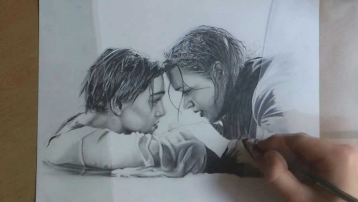 Best Titanic Pencil Drawing Step by Step | Unleashed Art | - Portrait Drawing Titanic (Ending Scene) Image