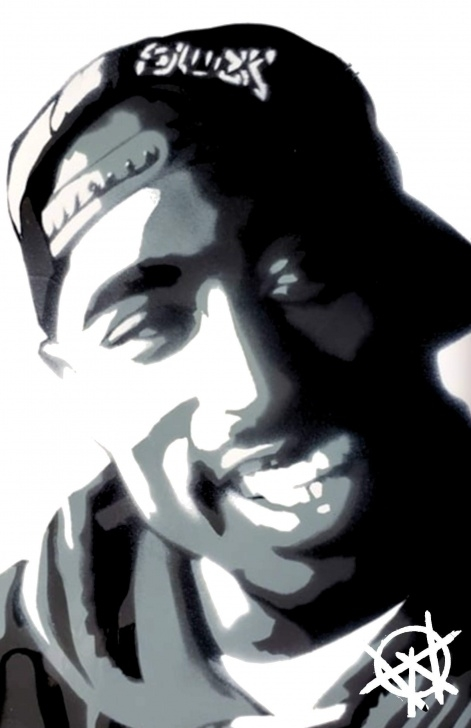 Best Tupac Stencil Art Lessons Tupac Shakur Spray Paint Art Pictures