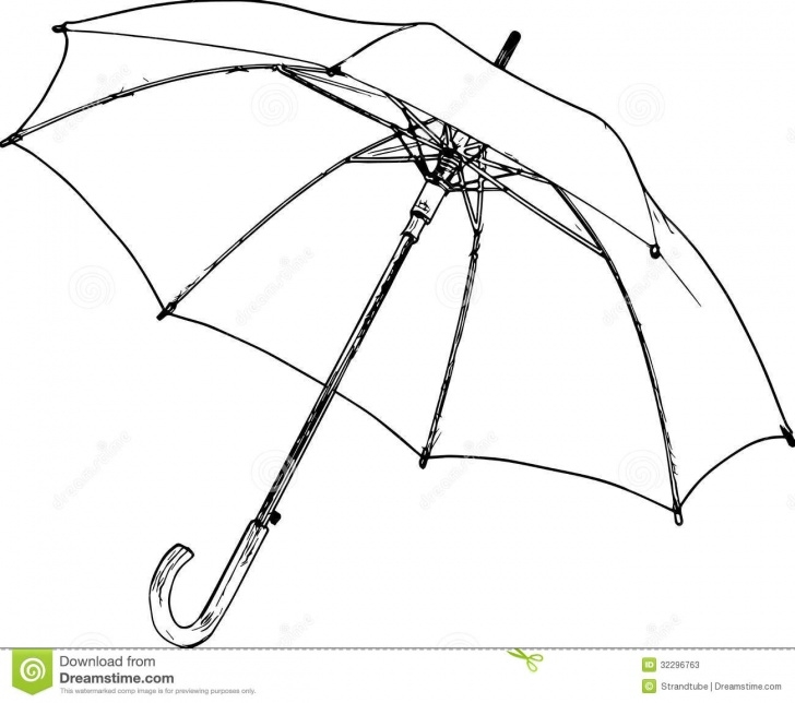 Best Umbrella Pencil Drawing Simple Closed Umbrella Drawing At Paintingvalley | Explore Collection Image