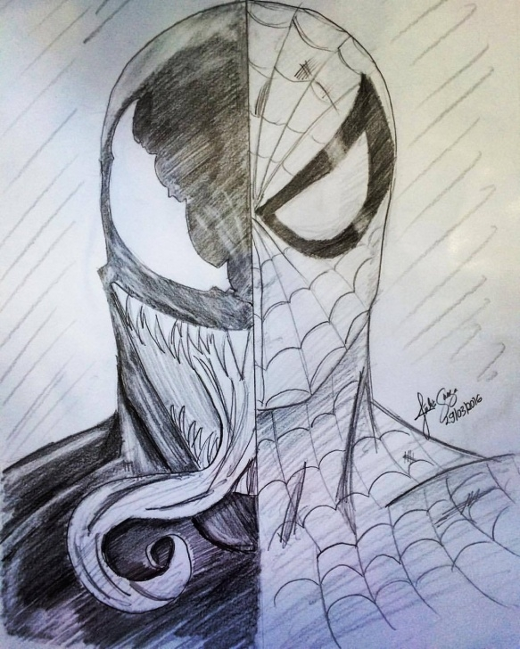 Best Venom Drawings In Pencil Techniques Jubart — Good X Evil #jubart#spiderman #venom Pic