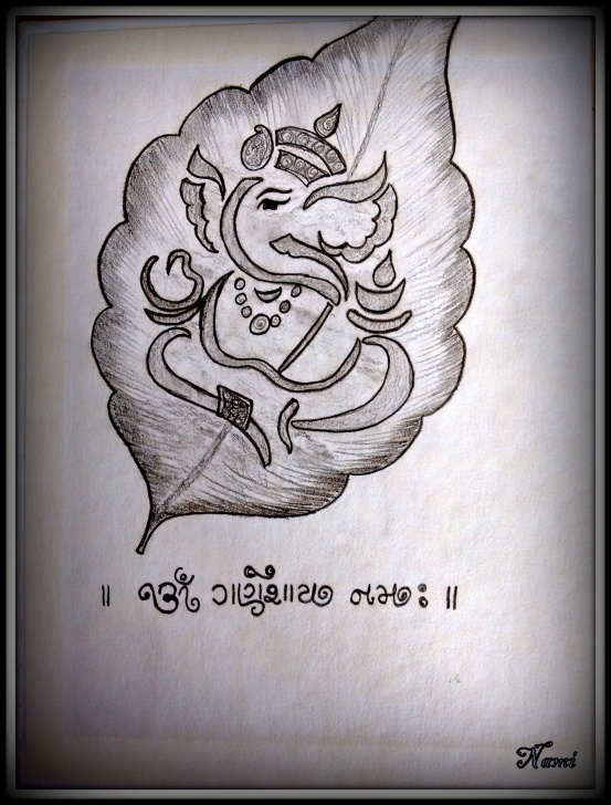 Best Vinayagar Pencil Drawing for Beginners Vinayagar Drawing Easy - Under Town Photo