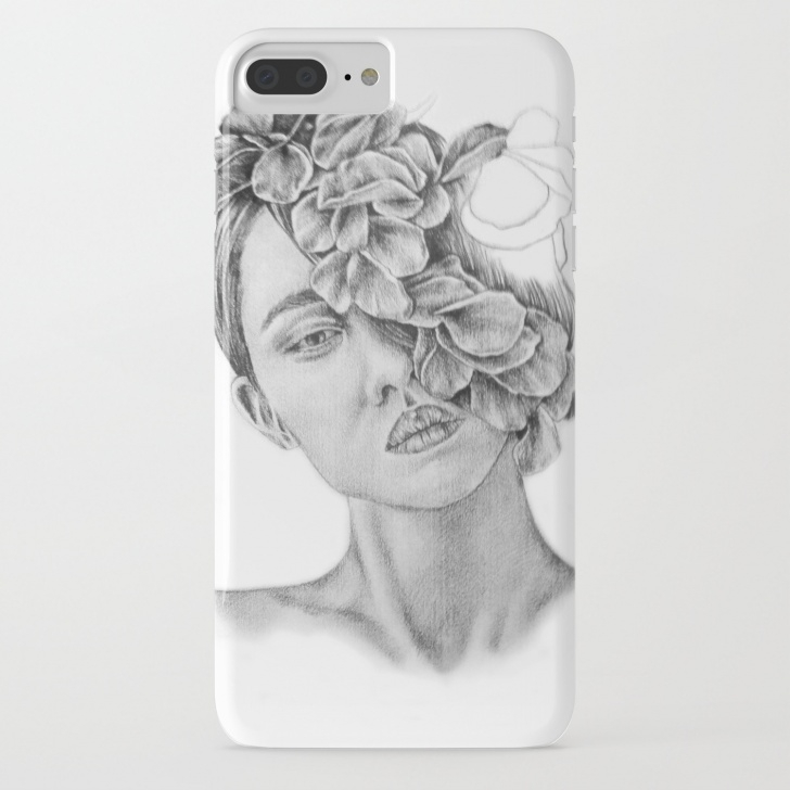 Best Wall Pencil Drawing Courses Art - Pencil Drawing - Illustration - Portrait - Model -Flowers - Gift -  Wall Decor Iphone Case Pics