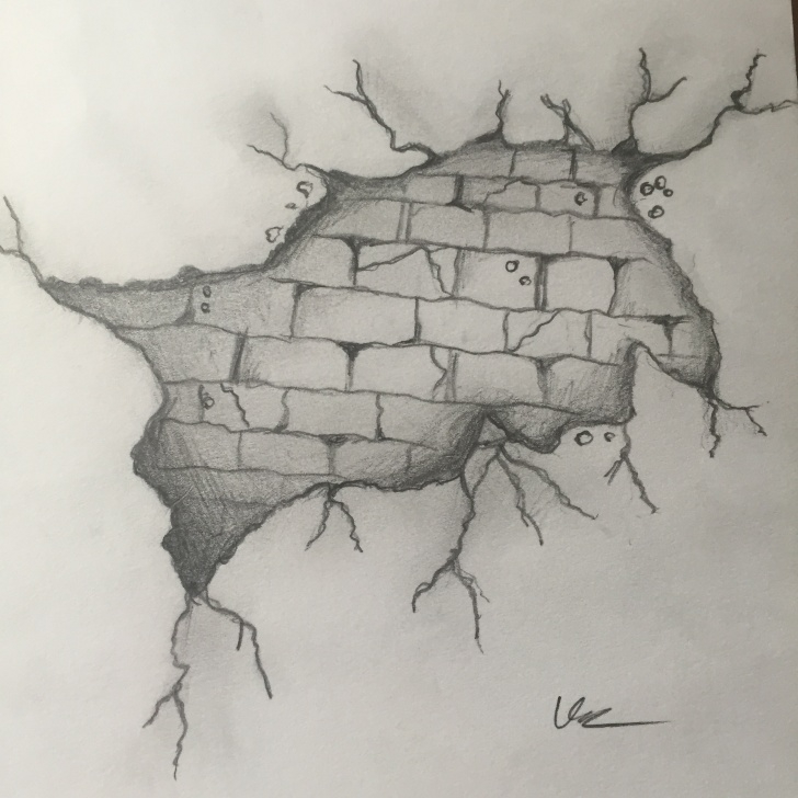 Best Wall Pencil Drawing Simple Brick Wall Drawing - Imgur Picture
