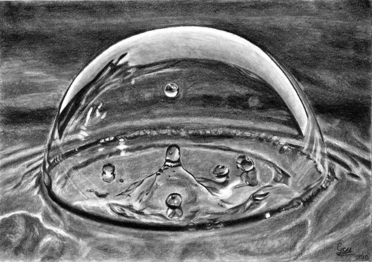 Best Water Pencil Sketch Courses Pencil Drawing Of Water | Water Drop Drawing | Art Image