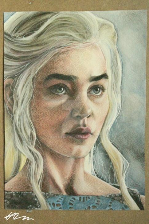 Best Watercolor Pencil Portrait Tutorials Daenerys Targaryen Watercolour Pencil Portrait By Drenerd On Deviantart Images