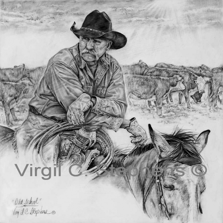 Western Cowboy Pencil Drawings