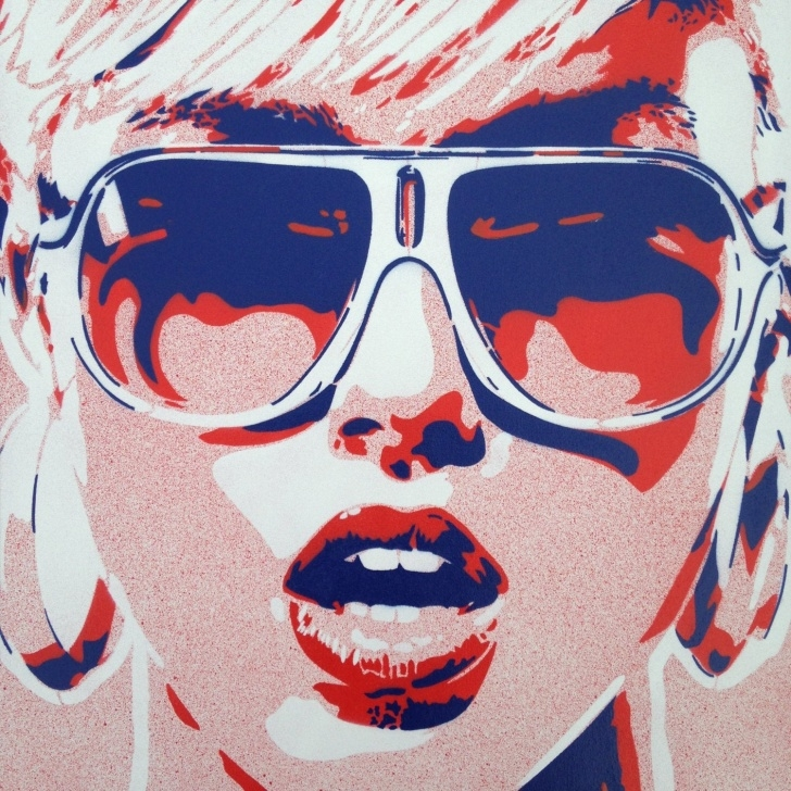 Best Woman Stencil Art Easy 1 Digital Download Pop Art Woman Painting Canvas Stencil Art Spray Paint  Art Sunglasses Red Blue Street Art Abstract Portrait Girl Her Home Image
