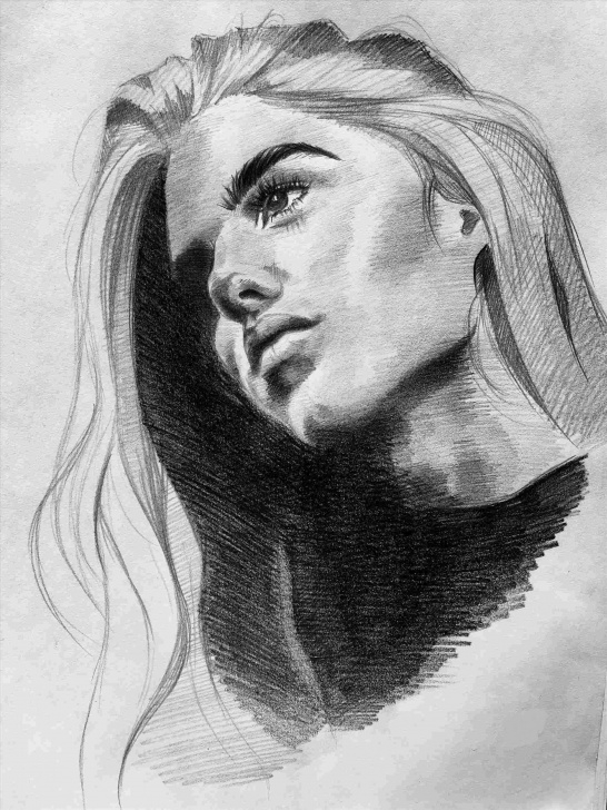 Best Women Pencil Art Techniques Pencil Sketch Of Women : Drawing Pictures