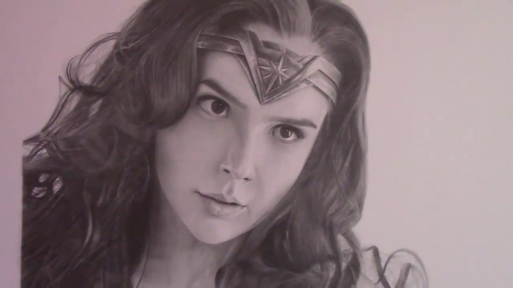 Best Wonder Woman Pencil Drawing Courses Pencil Drawing - Portrait Of Wonder Woman (Gal Gadot) Picture