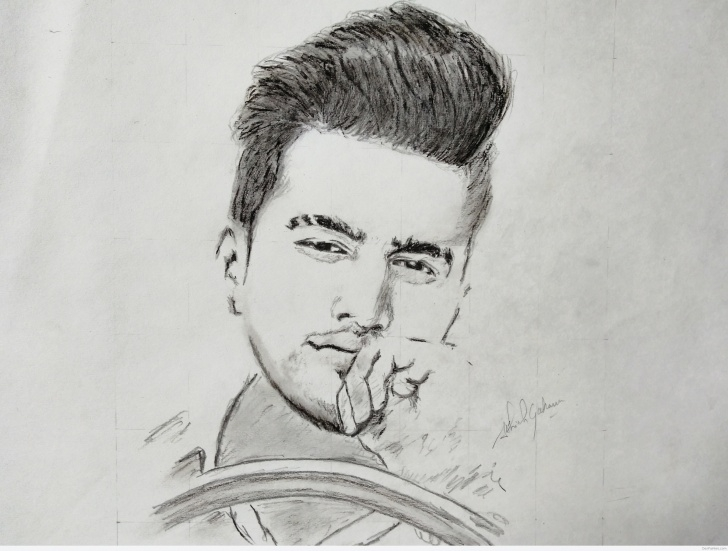 Best Wonderful Pencil Drawings Lessons Wonderful Pencil Sketch Of Jass Manak | Desipainters Pics