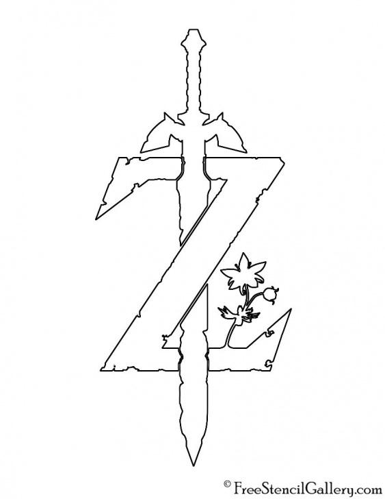 Best Zelda Stencil Art Tutorial Zelda - Breath Of The Wild Logo Stencil | Crafts | Legend Of Zelda Pic