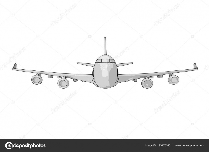 Excellent Airplane Pencil Drawing Lessons Sketch Of Passenger Airplane Pencil Drawing. 3D Rendering — Stock Pic