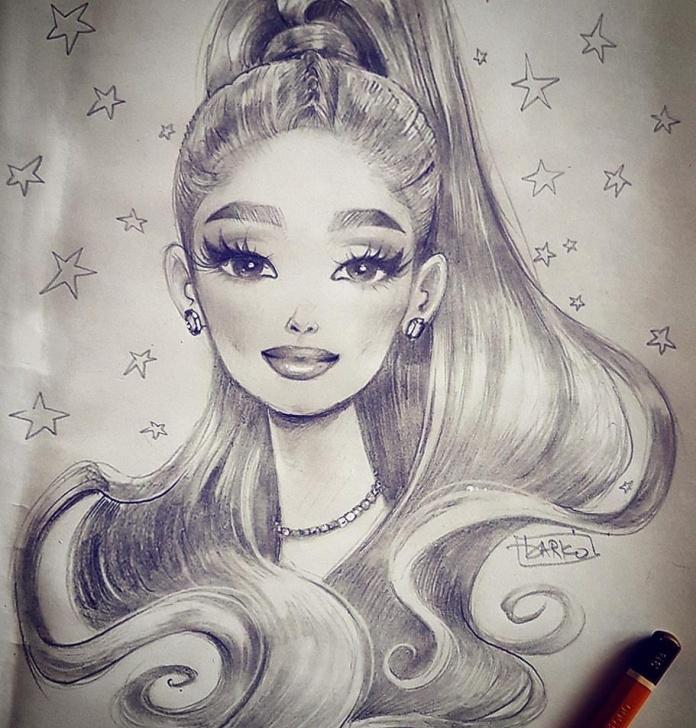 Excellent Ariana Grande Pencil Sketch Techniques for Beginners Darko Dordevic — Cute Pencil Sketch Of @arianagrande ? ?????? Images
