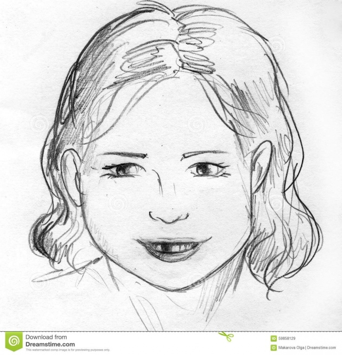 Excellent Baby Girl Pencil Drawing Step by Step Lost A Baby Tooth, Pencil Sketch Stock Illustration - Illustration Pictures