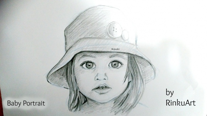 Excellent Baby Pencil Sketch Courses How To Draw A Cute Baby Portrait| Timelapse Pic