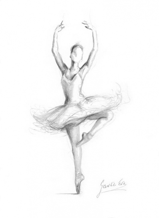 Excellent Ballerina Pencil Drawing Easy Ballerina Print, Ballerina Sketch, Print Of Drawing, Picture Ballerina,  Ballet Dancer, Ballerina Wall Art, Girl Room Decor, Gift For Girl Pic