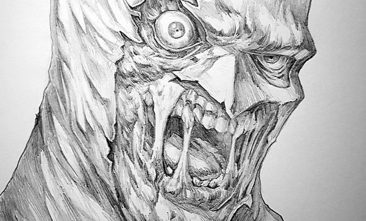 Excellent Batman Pencil Art Free Art - Zombie Batman - My Most Elaborate Pencil Artwork So Far :p Photo