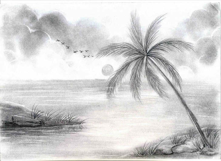 Excellent Beautiful Sketches Of Scenery Simple Pencil Sketch Scenery And Beautiful Nature Scenery Pencil Sketches Images