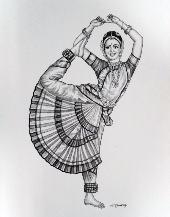 Excellent Bharatanatyam Pencil Sketches Tutorial Easy Bharatanatyam Pencil Drawing Photos