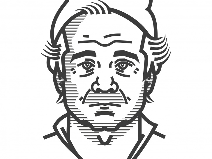 Excellent Bill Murray Stencil Techniques for Beginners Dribbble - Bill-Murray-V2 By Owen Leach Photo