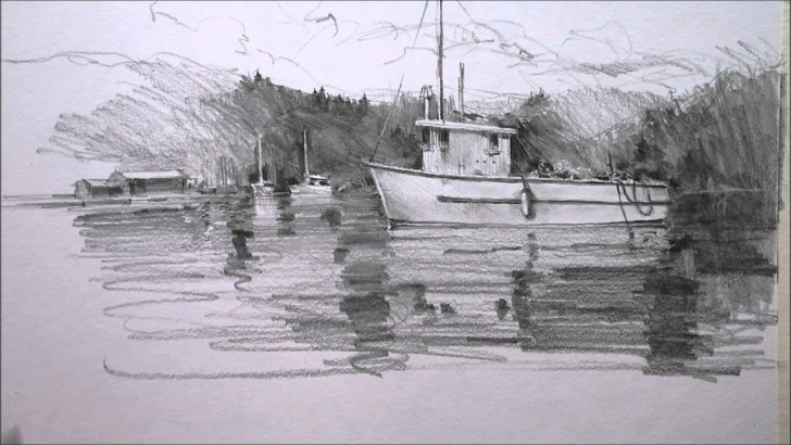 Excellent Boat Pencil Sketch Ideas Pencil Drawing Boat Pictures
