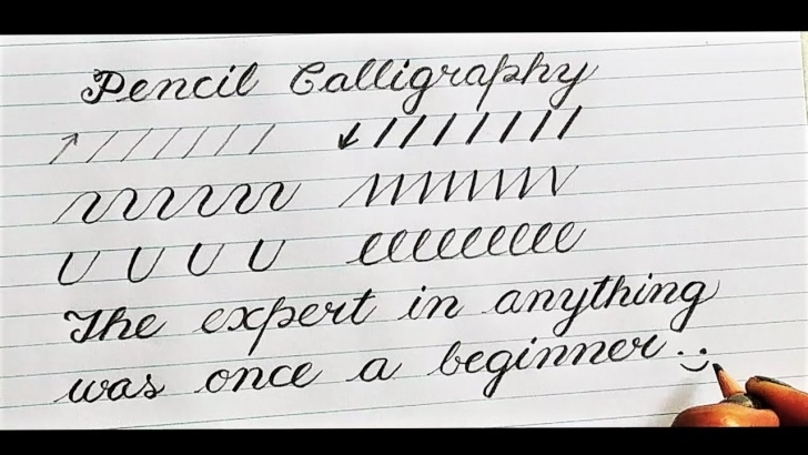 Calligraphy For Beginners With Pencil